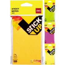 """Sticky Notes - Neon - 76X126mm/ 3X5"""""""