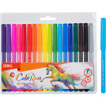 Felt Tip Washable Pen - 18 colours