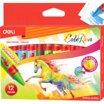 Jumbo Wax Crayons - 12 colours