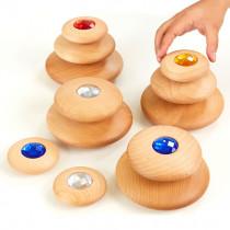 Wooden Jewel Pebbles