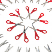 Right Handed 13cm Ruler Scissors 30pk