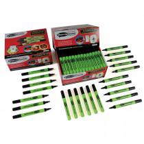 Drywipe Pens, Slim Barrel Medium Tip - BlackIdeal for students