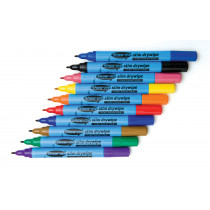 Drywipe Pens, Slim Barrel Fine Tip - Assorted