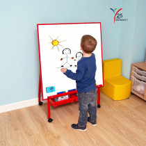Big A-Frame Mobile Easel Red