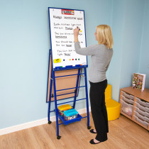 Double Boarded Mobile A-Frame Easel Portrait Blue