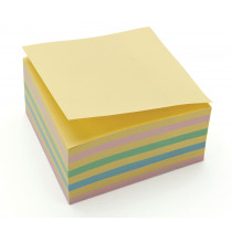Repositional Note Pad, Recycled, 75 X 75Mm - Pastel Rainbow