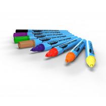 Drywipe Pen, Slim Barrel, Medium Tip - Assorted Ideal for students