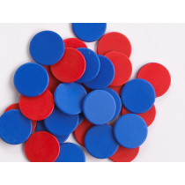 Plastic 2-Color Counters - Red/Blue