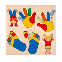Inlay Board Puzzle - Fingers & Toes(20 pieces)