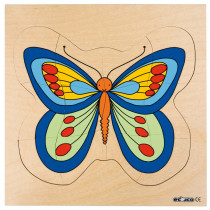 Multilayer Puzzles--Grow Up - Butterfly(31 pieces)