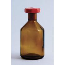 Reagent Bottle, Amber Glass, 100ml, Plastic Stopper