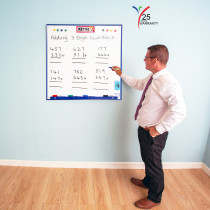 Wall Mounted Whiteboard 900 x 900mm 'Square' Blue