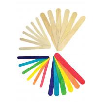 Craft Sticks Coloured Jumbo