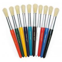 Plastic Handle Brush Sets - Round Bristles