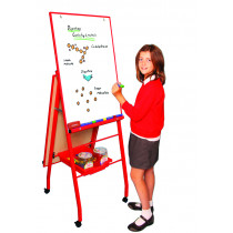 Double Boarded Mobile A-Frame Easel Portrait Red