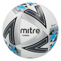 MITRE ULTIMATCH FOOTBALL  WHITE, SIZE 5