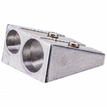 Metal Pencil Sharpener - 2-hole Dia 7mm & 12mm