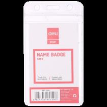 Transparent Name Badge - Vertical