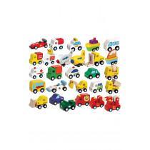 24 Piece Wooden Vehicles Set