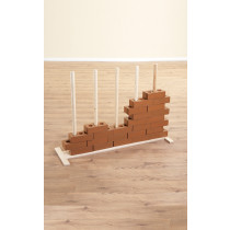 Wooden Brick Stand for Stacking