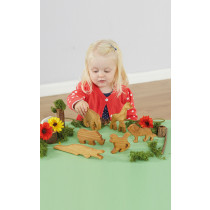 Wooden Wild Animal Set