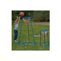 Outdoor Twin Hoop Basketball Stand