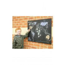 World Map Outdoor Chalk Board