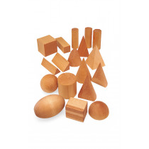 Geometric Solid Wooden Shapes