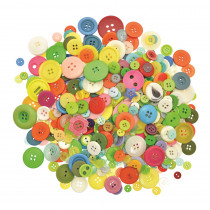 Plastic Craft Buttons - Assorted