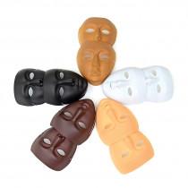Plastic Face Masks - White