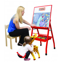 Little A-Frame Mobile Easel Red