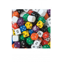 Jar of 100 Dice Mix Sets Numbers 1-6