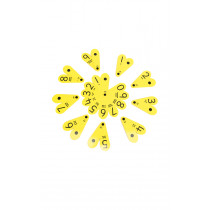 PVC Number Fan with Decimal Point-30 Pk