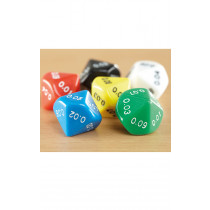 Plastic Polyhedral 10 Sided Dice 50pk 0.00 - 0.09