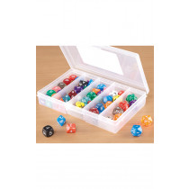 Coloured Mixed Dice Deluxe Set 54pcs