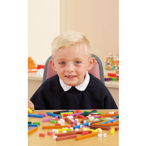 Plastic Coloured Number Rods Pk155