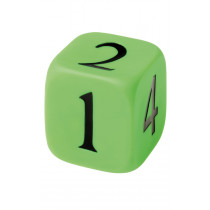 Large Rubber Numbered Dice 10 x 10cm