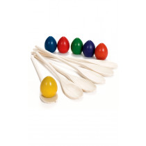 Sports Day Wooden Egg and Spoon Set 6pk