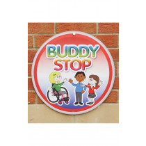 Buddy Stop Playground Sign With Stand
