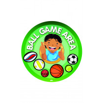 Ball Game Area Playground Sign With Stand