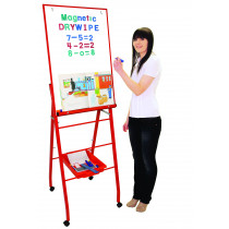 Single Boarded Mobile A-Frame Easel Portrait Red