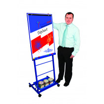 Single Boarded Mobile Easel Portrait Style Blue
