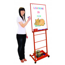 Single Boarded Mobile Easel Portrait Style Red