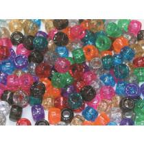 Beads Pony Transparent Glitter